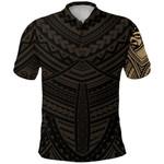 Maori Samoan Tattoo Polo Shirt Gold Version K12