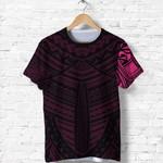 Maori Samoan Tattoo T Shirt Pink Version K12
