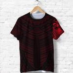 Maori Samoan Tattoo T Shirt Red Version K12