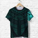 Maori Samoan Tattoo T Shirt Turquoise Version K12