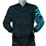 Maori Samoan Tattoo Men Bomber Jacket Blue Version K12