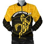 Sagittarius Men Bomber Jacket Polynesian Tattoo Version K12