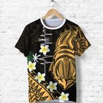 Heartbeat Polynesian T Shirt Plumeria Turtle Front | 1st New Zealand