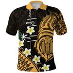 Heartbeat Polynesian Polo Shirt Plumeria Turtle Front | 1st New Zealand