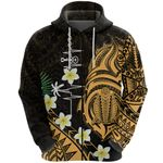Heartbeat Polynesian Zip Hoodie Plumeria Turtle Front | 1st New Zealand