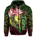 Taurus zodiac Mix Polynesian Tattoo Zip-Hoodie Rasta