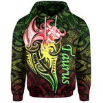 Taurus zodiac Mix Polynesian Tattoo Hoodie Rasta