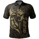 Taurus zodiac Mix Polynesian Tattoo Polo Shirt Gold