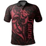 Taurus zodiac Mix Polynesian Tattoo Polo Shirt Red