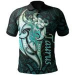 Taurus zodiac Mix Polynesian Tattoo Polo Shirt Green