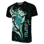 Taurus zodiac Mix Polynesian Tattoo T-Shirt Green