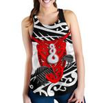 Maori Women Racerback Tank Heart Kowhaiwhai With Pikorua Twist K12