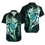 Taurus zodiac Mix Polynesian Tattoo Hawaiian Shirt Green