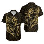 Taurus zodiac Mix Polynesian Tattoo Hawaiian Shirt Gold