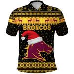 Brisbane Polo Shirt Broncos Christmas Unique Vibes - Black