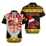 Brisbane Hawaiian Shirt Broncos Christmas Nice Abs - Black