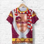 Brisbane Zip Hoodie Broncos Christmas Nice Abs - Maroon