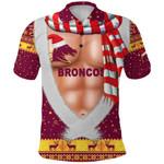 Brisbane Polo Shirt Broncos Christmas Nice Abs - Maroon