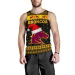 Brisbane Men Tank Top Broncos Christmas Unique Vibes - Black