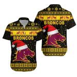 Brisbane Hawaiian Shirt Broncos Christmas Unique Vibes - Black