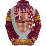 Brisbane Hoodie Broncos Christmas Nice Abs - Maroon