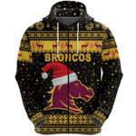 Brisbane Zip Hoodie Broncos Christmas Unique Vibes - Black