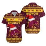 Brisbane Hawaiian Shirt Broncos Christmas Unique Vibes - Maroon