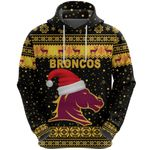 Brisbane Hoodie Broncos Christmas Unique Vibes - Black