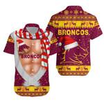Brisbane Hawaiian Shirt Broncos Christmas Nice Abs - Maroon