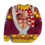 Brisbane Sweatshirt Broncos Christmas Nice Abs - Maroon K8