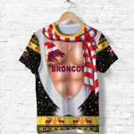 Brisbane T Shirt Broncos Christmas Nice Abs - Black