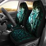 Taurus zodiac Mix Polynesian Tattoo Car Seat Covers Green