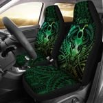 Taurus zodiac With Symbol Mix Polynesian Tattoo Car Seat Covers Green TH4
