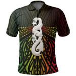 Maori Moko Tattoo Polo Shirt, Manaia Pounamu Golf Shirts Rasta K5