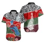 Tui Bird Mix Pohutukawa Shirt Twist Maori | 1st New Zealand