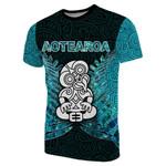 Aotearoa Tiki T-Shirt With Fern Green