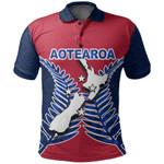 Aotearoa Map Polo Shirt With Fern