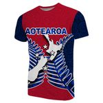 Aotearoa Map T-Shirt With Fern