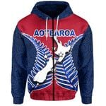 Aotearoa Map Zip-Hoodie With Fern