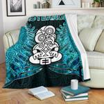 Aotearoa Tiki Premium Blanket  With Fern Green