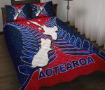 Aotearoa Map Quilt Bed Set With Fern