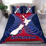 Aotearoa Map Bedding Set With Fern