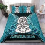 Aotearoa Tiki Bedding Set With Fern Green
