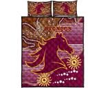 Broncos Super Quilt Bed Set Indigenous Brisbane   1st New Zealand