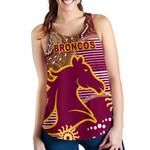 Broncos Super Women Racerback Tank Indigenous Brisbane | 1st New Zealand