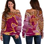 Broncos Super Off Shoulder Sweater Indigenous Brisbane   1st New Zealand