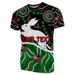 (Custom Personalised)Rabbitohs T-Shirt Aboriginal