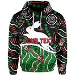 (Custom Personalised) Rabbitohs Hoodie Aboriginal