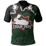 (Custom Personalised)Rabbitohs Polo Shirt Aboriginal 2