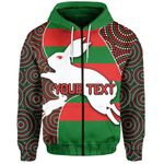 (Custom Personalised) Rabbitohs Zip-Hoodie
